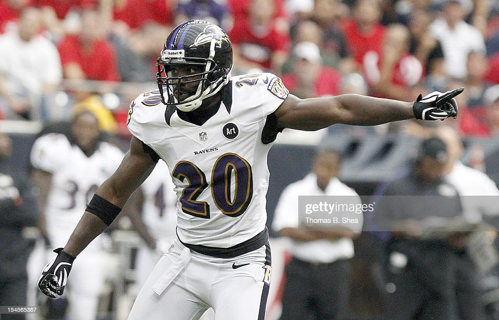 <a gi-track='captionPersonalityLinkClicked' href=/galleries/search?phrase=Ed+Reed&family=editorial&specificpeople=194933 ng-click='$event.stopPropagation()'>Ed Reed</a> #20 of the Baltimore Ravens plays defense against the Houston Texans on October 21, 2012 at Reliant Stadium in Houston, Texas. Texas won 43 to 13.