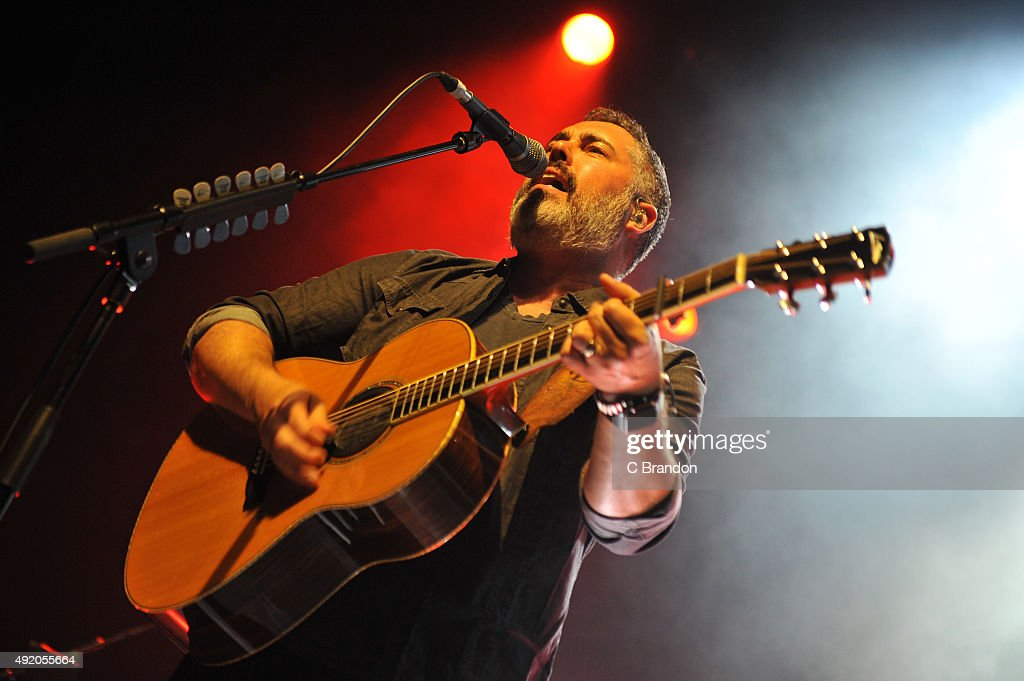 Ed Robertson of Barenaked Ladies performs on stage at the Indigo2 in The O2 Arena on October 9 2015 in London England