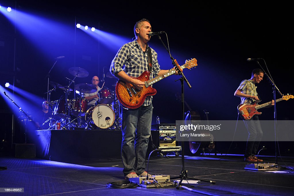 Ed Robertson Tyler Stewart and Jim Creeggan of Barenaked Ladies perform at Hard Rock Live in the Seminole Hard Rock Hotel Casino on October 30 2013...