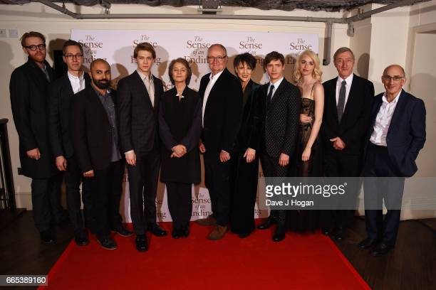 Ed Rubin Ritesh Batra Joe Alwyn Charlotte Rampling Jim Broadbent Harriet Walter Billy Howle Freya Mavor Julian Barnes and David Thompson attend 'The...
