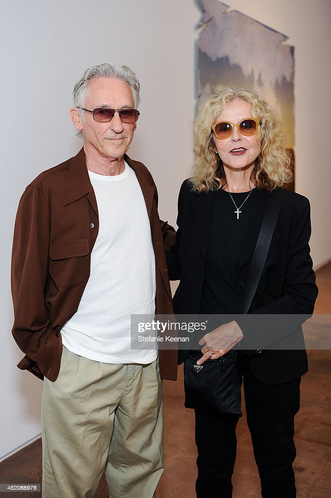<a gi-track='captionPersonalityLinkClicked' href=/galleries/search?phrase=Ed+Ruscha&family=editorial&specificpeople=213453 ng-click='$event.stopPropagation()'>Ed Ruscha</a> and Danna Ruscha attend Joe Goode 'Flat Screen Nature' on July 12, 2014 in Los Angeles, California.
