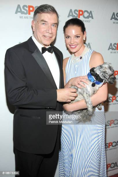 Ed Sayres Katherine Heigl and Philly the Dog attend 13th Annual ASPCA Bergh Ball at The Plaza on April 15 2010 in New York City