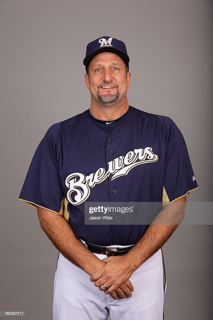 Ed Sedar #6 of the Milwaukee Brewers poses during Photo Day on February 17, 2013 at Maryvale Baseball Park in Phoenix, Arizona.