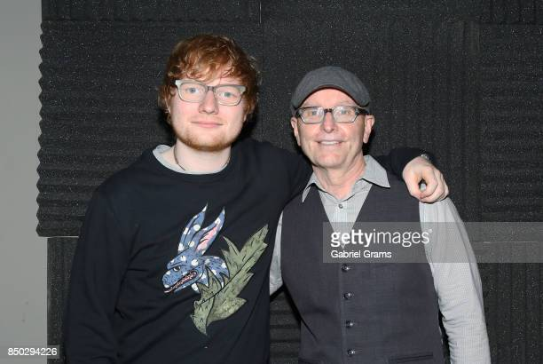 Ed Sheeran and Marty Lennartz appear at the Recording Academy Chicago Chapter Up Close Personal with Ed Sheeran on September 14 2017 in Chicago...