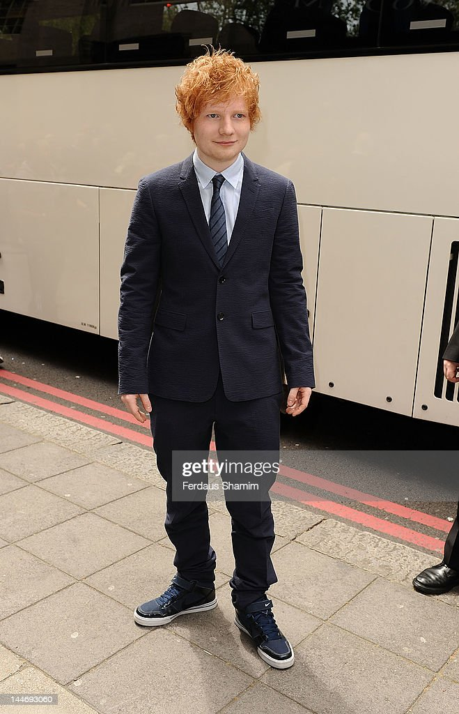 Ed Sheeran attends Ivor Novello Awards at Grosvenor House, on May 17, 2012 in London, England.