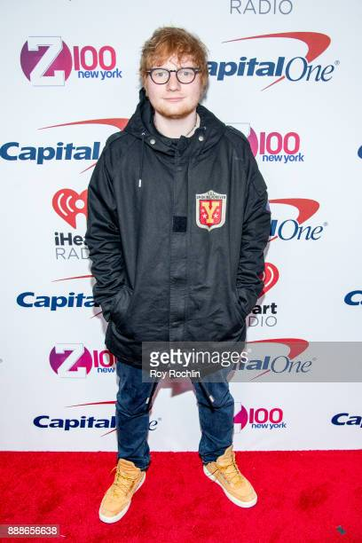 Ed Sheeran attends Z100's iHeartRadio Jingle Ball 2017 at Madison Square Garden on December 8 2017 in New York City