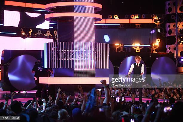 Ed Sheeran cohosts the 2015 Much Music Video Awards at MuchMusic on Queen Street West in Toronto June 21 2015