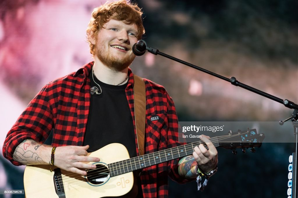 Ed Sheeran headlines on the Pyramid Stage during day 4 of the Glastonbury Festival 2017 at Worthy Farm, Pilton on June 25, 2017 in Glastonbury, England.
