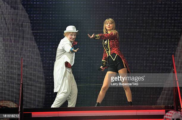 Ed Sheeran made a special surprise appearance onstage during the finale of the North American portion of Taylor Swift's RED tour The show played to a...