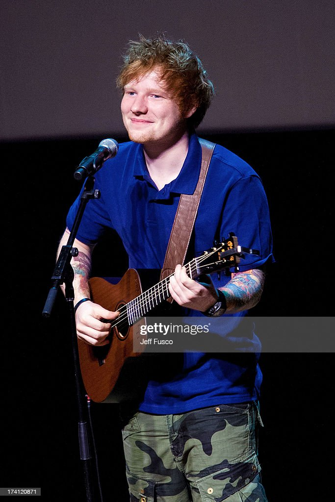 Ed Sheeran performs at a Q102 concert event at the Philadelphia Museum of Art on July 20, 2013 in Philadelphia, Pennsylvania.