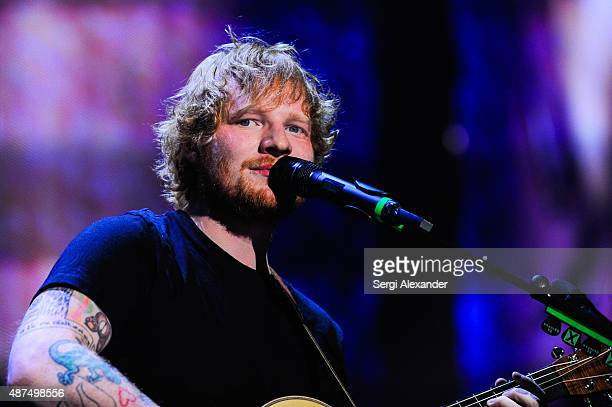 Ed Sheeran performs at American Airlines Arena on September 9 2015 in Miami Florida
