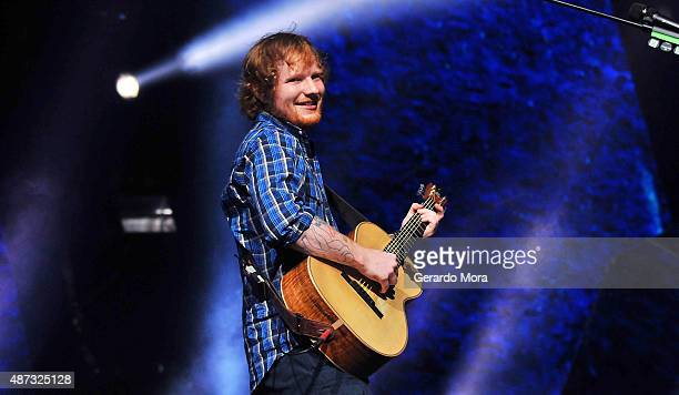 Ed Sheeran performs at Amway Center on September 8 2015 in Orlando Florida