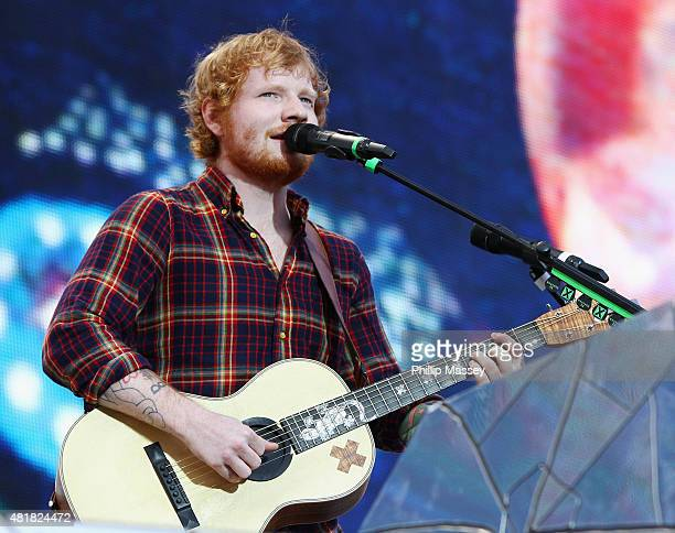 Ed Sheeran performs at Croke Park on July 24 2015 in Dublin Ireland