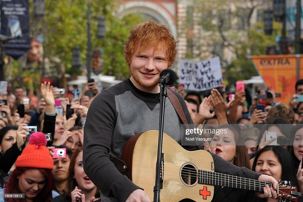<a gi-track='captionPersonalityLinkClicked' href=/galleries/search?phrase=Ed+Sheeran&family=editorial&specificpeople=7604356 ng-click='$event.stopPropagation()'>Ed Sheeran</a> performs at Extra at The Grove on February 7, 2013 in Los Angeles, California.