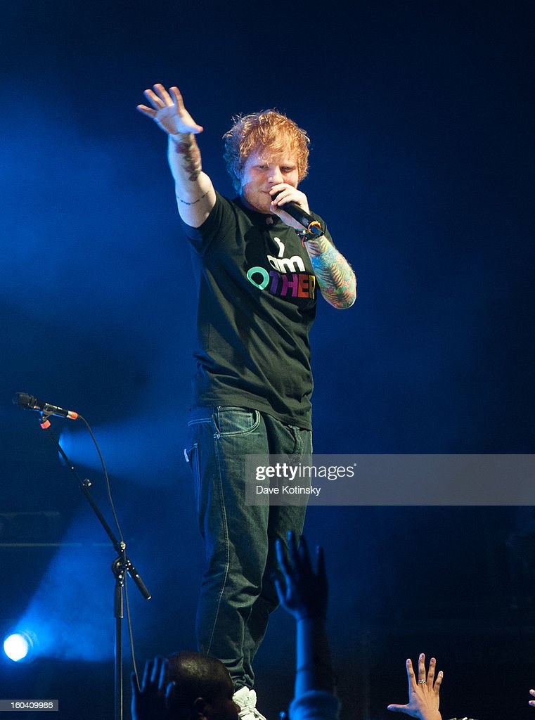 Ed Sheeran performs at Radio City Music Hall on January 30, 2013 in New York City.