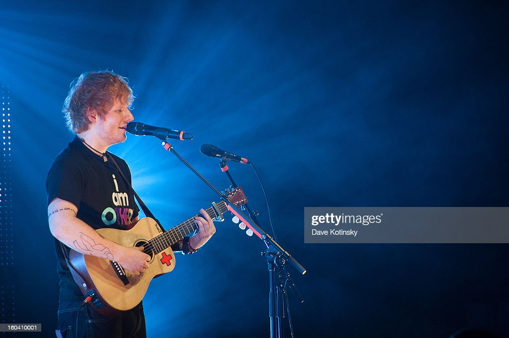 Ed Sheeran performs at Radio City Music Hall on January 30, 2013 in New York City.