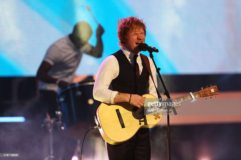 Ed Sheeran performs at the 2015 Much Music Video Awards at MuchMusic on Queen Street West in Toronto June 21 2015