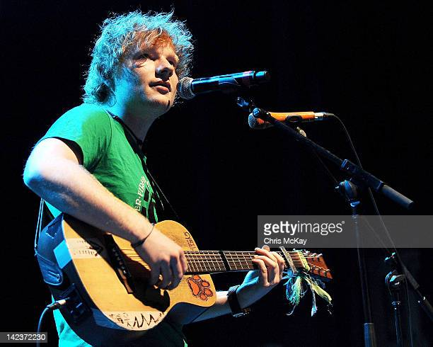 Ed Sheeran performs at The Tabernacle on April 2 2012 in Atlanta Georgia