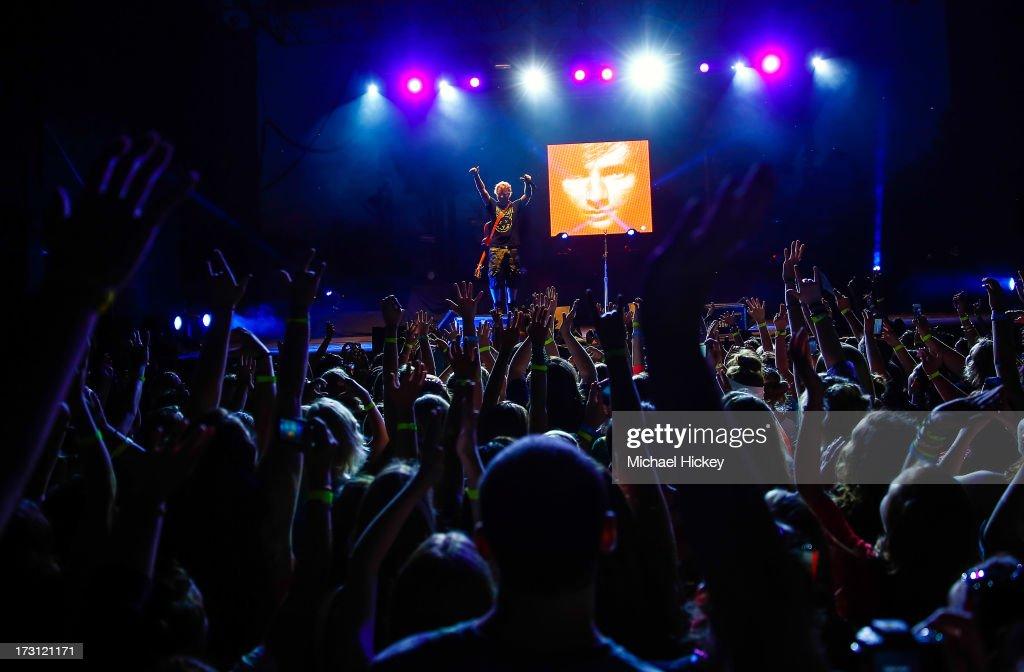 <a gi-track='captionPersonalityLinkClicked' href=/galleries/search?phrase=Ed+Sheeran&family=editorial&specificpeople=7604356 ng-click='$event.stopPropagation()'>Ed Sheeran</a> performs during the 99.5 WZPL Birthday Bash at White River State Park on July 7, 2013 in Indianapolis, Indiana.