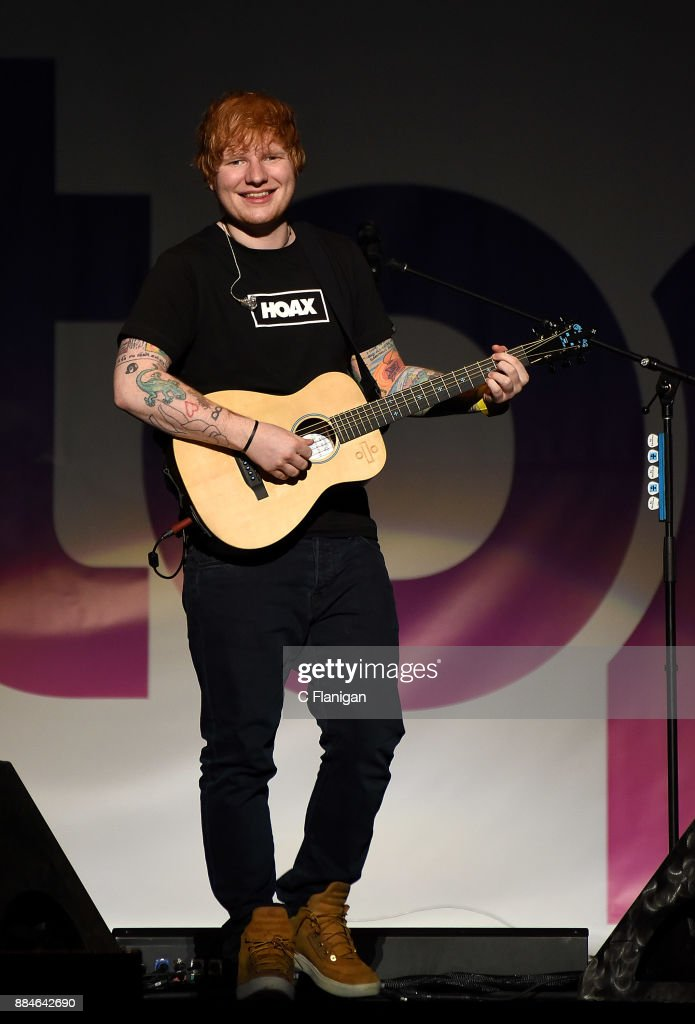 Ed Sheeran performs during the 99.7 NOW! POPTOPIA at SAP Center on December 2, 2017 in San Jose, California.
