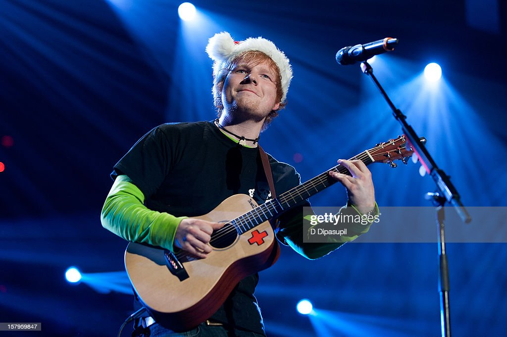 Ed Sheeran performs during Z100's Jingle Ball 2012 presented by Aeropostale at Madison Square Garden on December 7, 2012 in New York City.