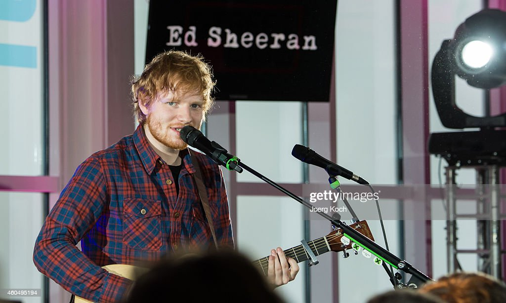 Ed Sheeran performs live during the Telekom Street Gig at Zugspitze at 2962 Meters above sealevel on December 15 2014 in GarmischPartenkirchen Germany