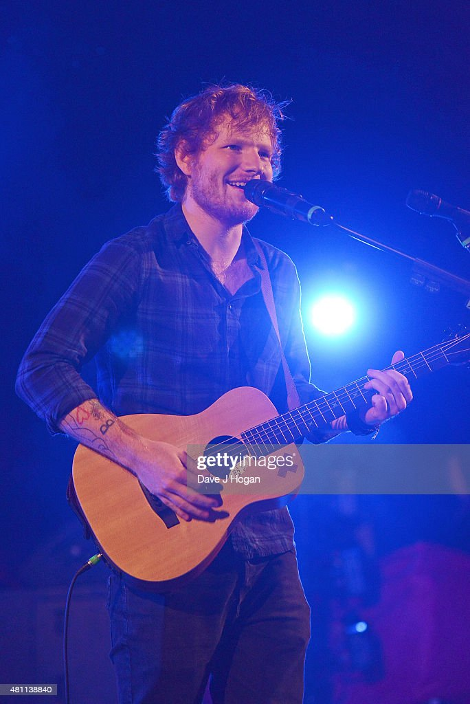 Ed Sheeran performs on day 2 of Latitude Festival at Henham Park Estate on July 17, 2015 in Southwold, England.