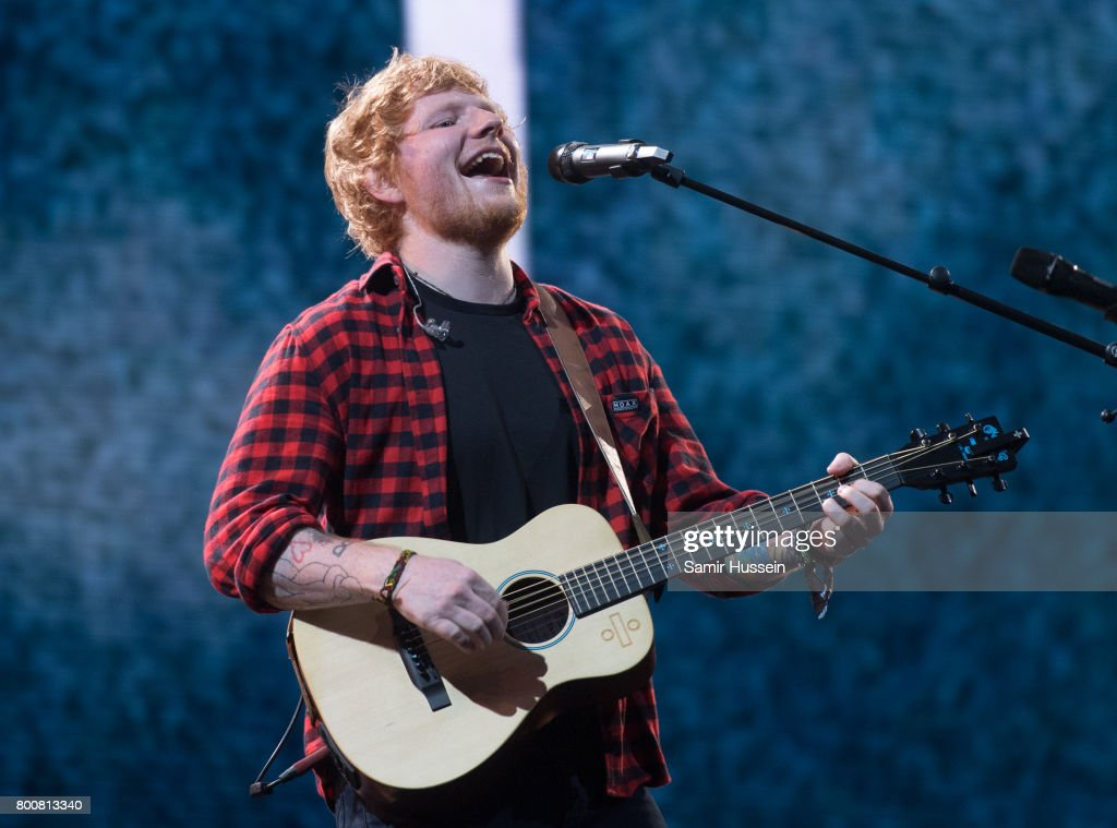 Ed Sheeran performs on day 4 of the Glastonbury Festival 2017 at Worthy Farm, Pilton on June 25, 2017 in Glastonbury, England.