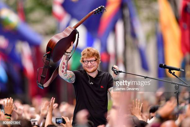Ed Sheeran performs on NBC's 'Today' show at Rockefeller Center on July 6 2017 in New York City