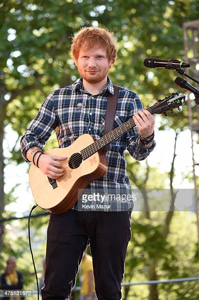 Ed Sheeran performs onstage during ABC's 'Good Morning America' at Rumsey Playfield Central Park on May 29 2015 in New York City