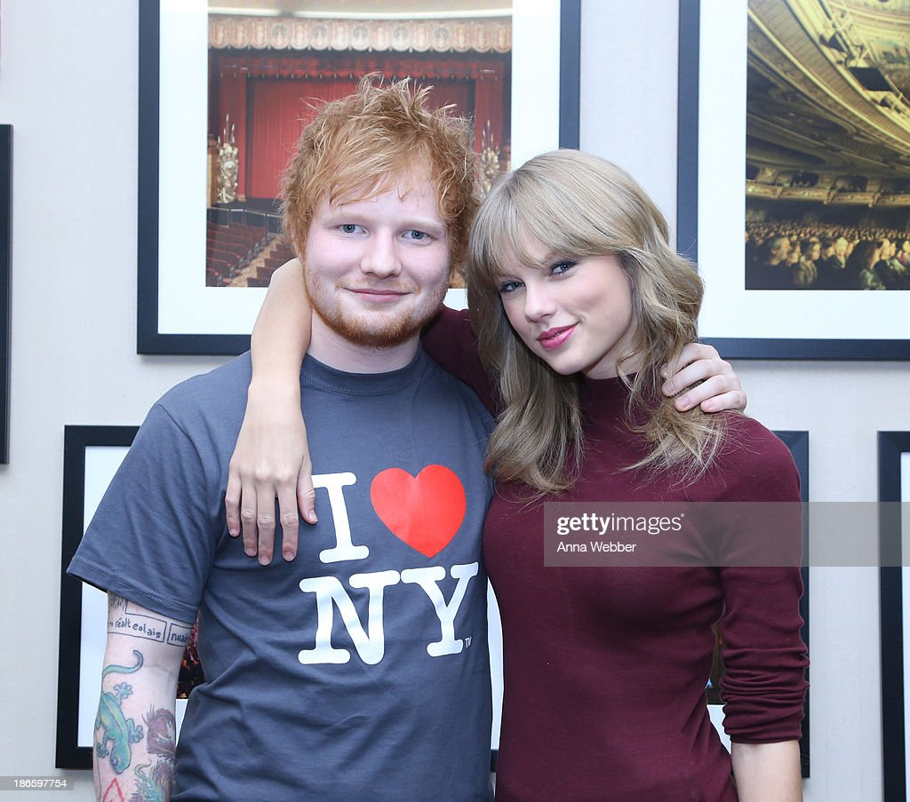 <a gi-track='captionPersonalityLinkClicked' href=/galleries/search?phrase=Ed+Sheeran&family=editorial&specificpeople=7604356 ng-click='$event.stopPropagation()'>Ed Sheeran</a> poses with <a gi-track='captionPersonalityLinkClicked' href=/galleries/search?phrase=Taylor+Swift&family=editorial&specificpeople=619504 ng-click='$event.stopPropagation()'>Taylor Swift</a> backstage before his sold-out show at Madison Square Garden Arena on November 1, 2013 in New York City.