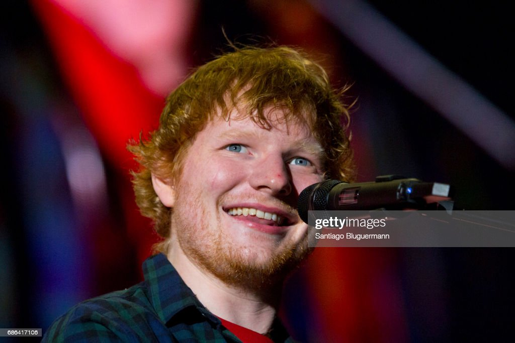 Ed Sheeran smiles during the 'Devide' Tour at Ciudad de La Plata Stadium on May 20, 2017 in Buenos Aires, Argentina.