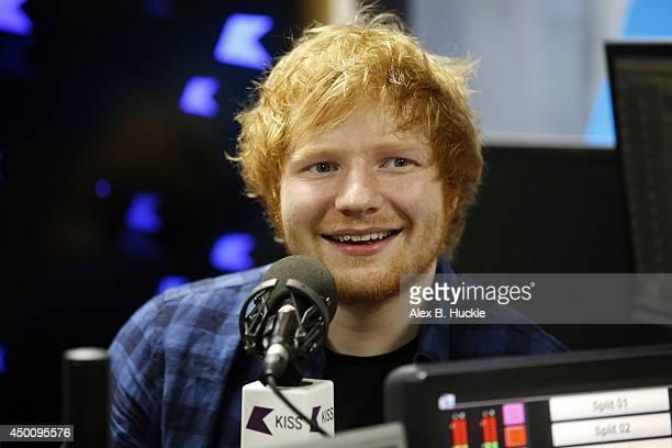 Ed Sheeran visits Kiss FM Breakfast at Kiss FM's Studio on Jun 5 2014 in London England