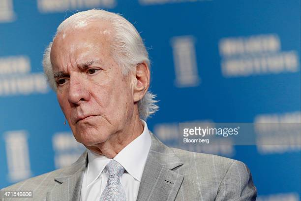 Ed Snider chairman of ComcastSpectacor LP listens during the annual Milken Institute Global Conference in Beverly Hills California US on Wednesday...