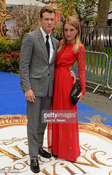 Ed Speleers and Asia Macey attend the European Premiere of 'Alice Through The Looking Glass' at Odeon Leicester Square on May 10 2016 in London...
