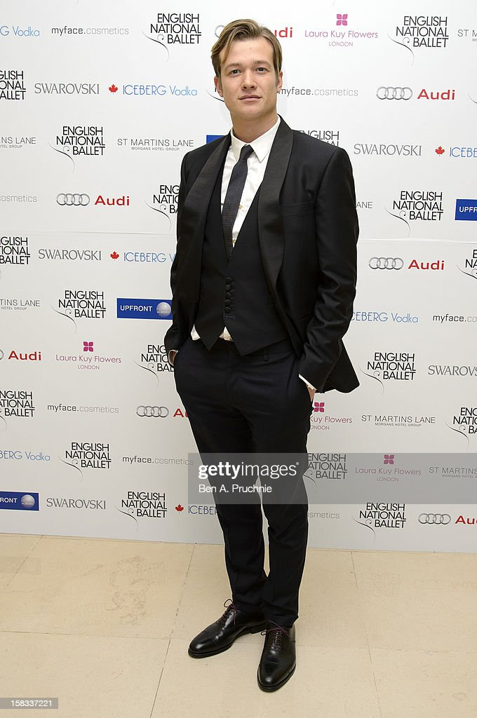 Ed Speleers attends the English National Ballets Christmas Party at St Martins Lane Hotel on December 13, 2012 in London, England.