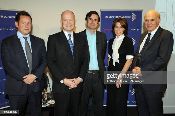 Ed Vasey William Hague Robert Peston Natasha Kaplinsky and Vice Cable attend the Cancer Research UK tenth annual Turn the Tables event at BAFTA London