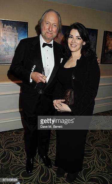 Ed Victor and Nigella Lawson attend the Who's Cooking Dinner charity event in aid of leukaemia charity Leukaon at the Langham Hotel on March 8 2010...