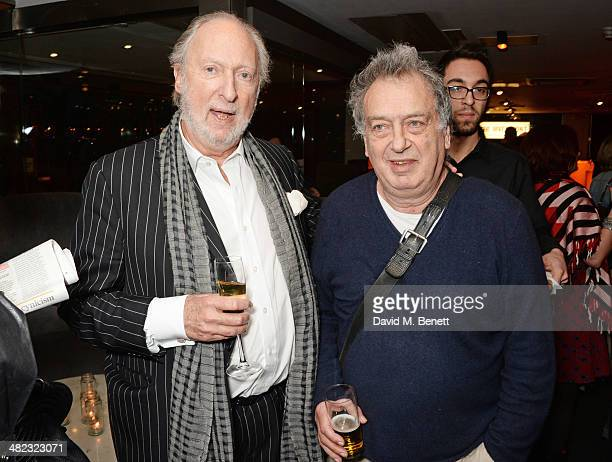 Ed Victor and Stephen Frears attend the launch of the 3rd annual 'Made In Britain' season featuring the films of producer Jeremy Thomas at the BFI...