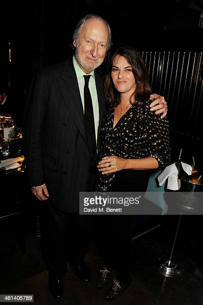 Ed Victor and Tracey Emin attend the London Collections Men closing dinner hosted by Dylan Jones and Anya Hindmarch at Hakkasan Hanway Place on...
