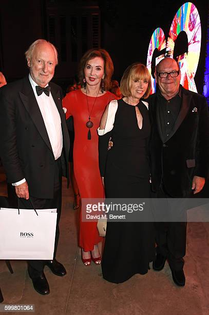 Ed Victor Carol Victor Kathy McGuinness and Paul McGuinness attend the GQ Men Of The Year Awards 2016 after party at the Tate Modern on September 6...