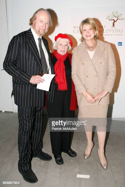 Ed Victor Florence Boggs and Martha Stewart attend MARTHA STEWART Center for Living at Mt Sinai 2nd Annual Gala at Martha Stewart Headquarters on...