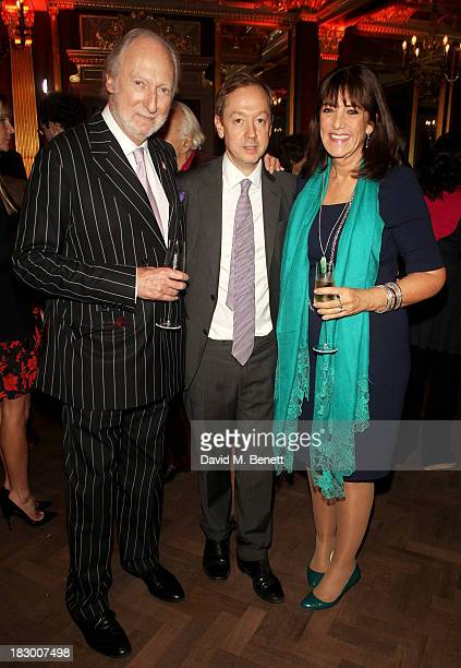 Ed Victor Geordie Greig and Dame Gail Rebuck attend the launch of Geordie Greig's new book 'Breakfast With Lucian' on October 3 2013 in London England