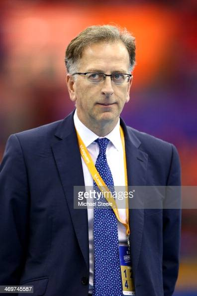 Ed Warner Chairman of UK Athletics during the Sainsbury's Indoor Grand Prix at the NIA Arena on February 15 2014 in Birmingham England