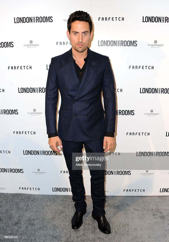 Ed Weeks attends the British Fashion Council's International Showcasing Initiative 'London Show Rooms LA' at Thompson Hotel on April 9, 2013 in Beverly Hills, California.