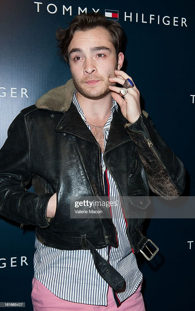 Ed Westwick arrives at the Tommy Hilfiger LA Flagship Opening on February 13, 2013 in Los Angeles, California.