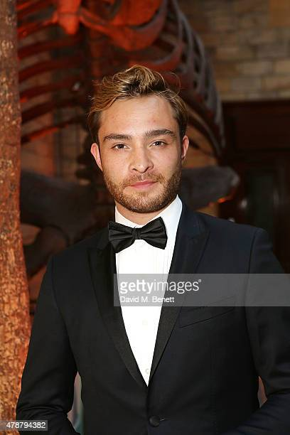 Ed Westwick at the inaugural Walkabout Foundation gala drinks by Boujis London at Natural History Museum on June 27 2015 in London England