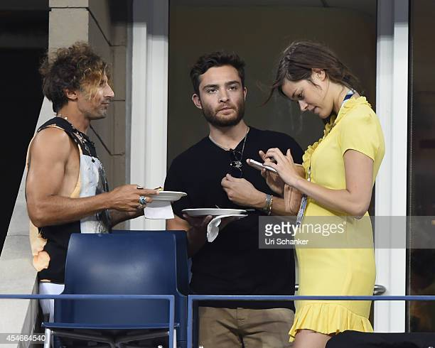 Ed Westwick attends day 11 of the 2014 US Open at USTA Billie Jean King National Tennis Center on September 4 2014 in New York City