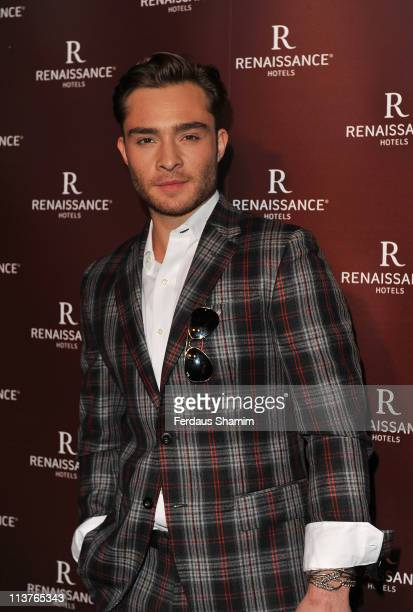 Ed Westwick attends the grand opening of St Pancras Renaissance Hotel at St Pancras Renaissance Hotel on May 5 2011 in London England