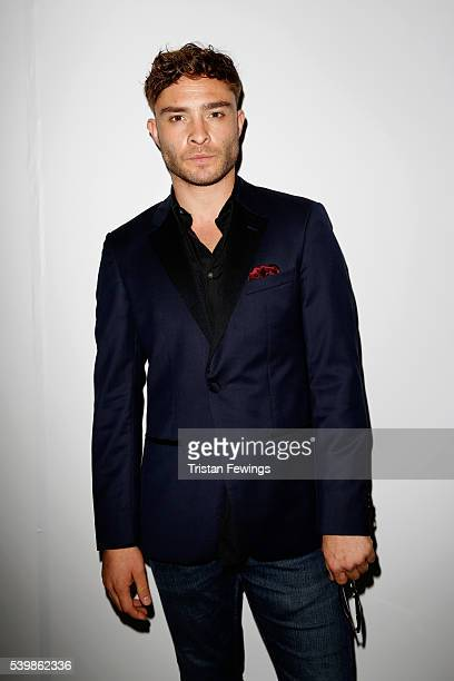 Ed Westwick attends the Katie Eary show during The London Collections Men SS17 at BFC Show Space on June 13 2016 in London England